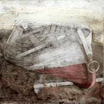 Kaltnadel- Radierung und Aquarellfrabe // Platte: 19,7 x 20 / mit Pp. 40 x 50