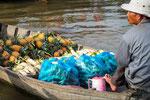 Marché flottant dans le Delta du Mékong