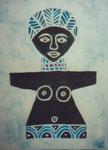 Poupée Ashanti, 2004, Batik