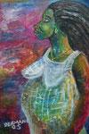 Femme enceinte, 2005, Acrylic on Canvas