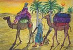 Voyage dans le desert, 2003, Aquarelle / Watercolour on Paper ( 50 x 70 cm )