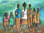 Going to School, 2005, Acrylic Painting on Canvas