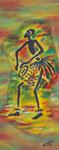 Joueur de djembe, 2005, Batik
