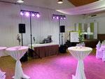DJ Linnich - Aufbau für Hochzeit Bürgerhalle Welz