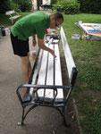 parkbänke guldenpark • künstlergruppe el-kordy erneuert die parkbänke in penzing, wien • 2013