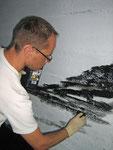 kunstprojekt dialog • bemalung einer unterführung mit kroatischen kolleginnen/künstlergruppe el-kordy in wienpenzin • 2012