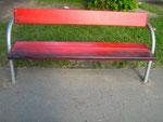 margaretener bankgeheimnis • künstlergruppe el-kordy, art e fact und vienna travelgallery bemalen 22 Parkbänke im bruno kreisky-park wien • 2012