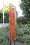 """skyline 1.0"" (kokosholz, spektrumglas, ipe - mit peter brandl) im skulpturenpark, schauerten gärtnerei starkl • künstlergruppe el-kordy • 2017"