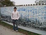 """wienerWALDwerk • kunstprojekt """"die künstler"""" & """"künstlergruppe el-kordy"""" das längste """"waldbild"""" mit einer ca. gesamtlänge von 200m • 2010"""