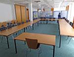 In den Seminarräumen 1 und 2 finden die Sitzungen des pädagogischen Seminars statt.