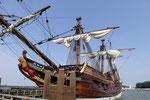 """Die """"neue"""" Batavia - ein originalgetreuer Nachbau des versunkenen Handelsschiffes. Foto: Ulrichs"""