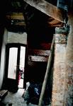 ... und das Treppenhaus blieben nicht verschont!