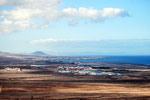 Blick vom Berg auf den Norden