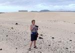 in der Corralejo Wüste
