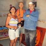 Visite chez l'artiste peintre local