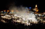 Marrakech : place Jemma El Fna le soir