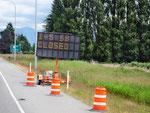 ...wegen Brücken Crash auf der I-5