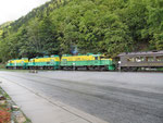 Die White Pass Bahn...