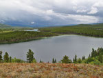 Blick über den Snafu Lake vom Hügel