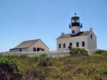 Der alte Leuchtturm oben auf dem Cabrillo Point