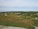 Blick von der Düne aufden Camping