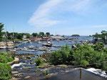 Schöne Aussicht über dne Hafen