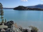 Kluane -Lake 2-farbig - Sediment vom Gletscher