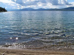 Atlin Lake - Hitchcock Rec. Site - glasklares Wasser...