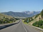 Von Livingston zum Holter Lake