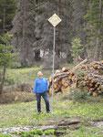 beim Cameron Pass - Snow Course Marker