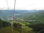 Blick hinunter auf Whistler