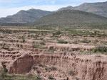 ein ausgewaschener kleiner Canyon