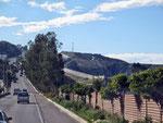 In Tijuana (MEX) entlang dem Grenzzaun