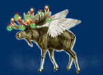 X-Mas-Moose (available as postcard)