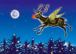 Flying Rudolph (available as postcard)