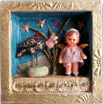 Small Angel with Turkey, 2013, 10 x 10 x 3 cm (sold)