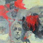 Collage, Acryl a. LW - 60 x 60 cm