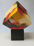 Kunstkubus / Acryl auf Holz - 20 x 20 x 20 cm
