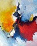Begegnung / Acryl a. LW - 100 x 80 cm