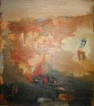 Acryl, Öl auf LW.- 90 x 80 cm