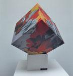 Kunst-Kubus / Acryl auf Holz - 20 x 20 x 20 cm