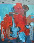 Fundstücke, Acryl a. LW - 100 x 80 cm