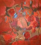 """la vie en rose"" - Acryl / LW - 100 x 90 cm"