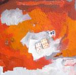 Glück im Spiel / Michtechnik/Acryl a. LW - 80 x 80 cm