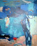 in der blauen Luft schweben, Acryl a. LW - 100 x 80 cm