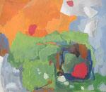 """das kleine rot"" Acryl a. LW. - 140 x 160 cm"