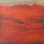 Methaphysische Landschaft, Mischtechnik Acryl a. LW - 100 x 100 cm