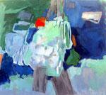 """das kleine rot"" Acryl a. LW. - 90 x 100 cm"