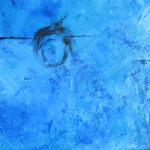 Nachtblau, Acryl a. LW. - 80 x 80 cm