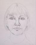 Herta - Bleistiftzeichnung auf Papier - A4